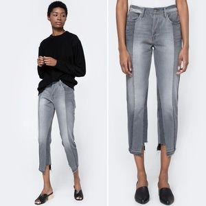 New FRAME Nouveau Le Mix High Staggered Hem Jeans